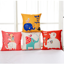 Horse elephant animal multicolour cartoon child eco-friendly fluid pillow sofa cushion car cushion set throw pillow(China)