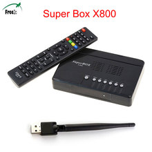 hot selling DVB-S/S2 SuperBox X800 Satellite Receiver Full1080P HD MPEG-2/4 H.264 Set topTV BOX+USB WIF optional(China)