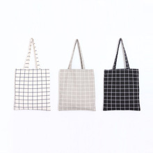 BAGTALK PP09 Beach Bag in Square Design Cotton Linen Shopping Bags Summer Sac Girl Shool Bag For Book Tote Bags Women-Bag(China)