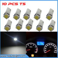 10pcs Car Interior T5 led 1 SMD 5050 led Dashboard Wedge 1LED Car Light t5 Bulb Lamp led t5 12v Yellow/Blue/green/red/white led