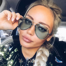 Luxury Aviator Sunglasses Women Brand Designer Vintage Retro Pilot Sun Glasses For Women Female Ladies Sunglass Mirror Rimless