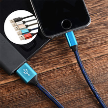 hot sale 1m 2m charging Cable for Iphone color ios Charging Cable for iphone5 5s 6 6s se fishing net braid charging data line