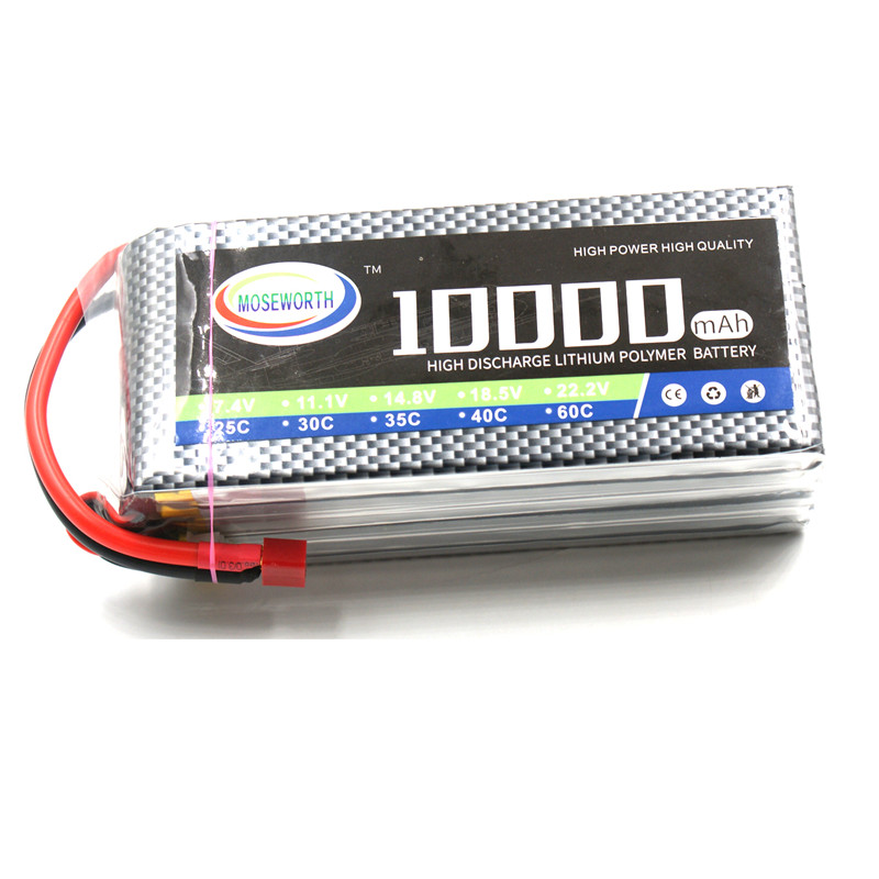 Battery Lipo 6S 22.2V 10000mAh 25C RC Drone Car Boat Truck Helicopter Quadcopter Airplane Remote Control Toys Lipo Battery