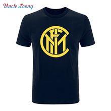 2017 fashion summer Men's printing T Shirt - Inter Milan Logo casual cotton Loose code t shirt More size and color(China)