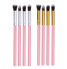 Fashion 4Pcs Soft Cosmetic Makeup Brushes Pink Eye Shadow Foundation Blending Brush Set Eyeshadow Blend Powder Make Up Brush Kit