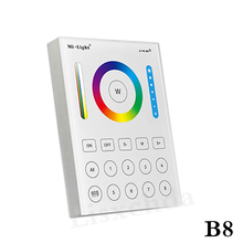 2017 new Mi Light Touch Screen RF Panel Controller 8-Zone 2.4G RF Adjustable Mi-Light RGBW Bulb Led Panel wall Controller