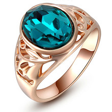 R019 New Pattern 2017 Fashion Wedding Lovely Green Crystal Ring For Women Jewelry Accessoris wholesale Factory Direct Sale