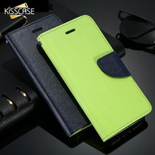 KISSCASE Luxury Flip Case For Apple iPhone5 5S 5G Cute Colorful  Leather Wallet Stand Phone Accessories Cover for iPhone 5S