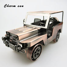Office decoration retro handmade metal classic car model collection men gifts children toys retro home accessories(China)