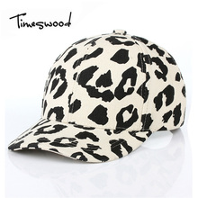 Timeswood Leopard Design Baseball Cap Men Women Fashion Leisure Classic Street Snapback Caps White Casquette Hats Spot Printing