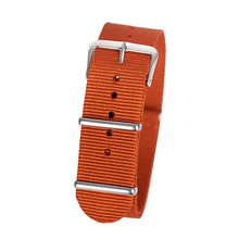 22mm dark orange Sport nato fabric watch band straps accessories Bands nylon watchband steel Buckle belt(China)