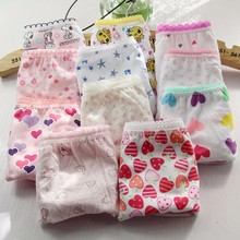 10pcs/lot  Promotional discounts baby clothing child pants girls panties briefs baby clothing