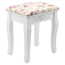 Best Rose Vintage Dressing Table Stool Padded Piano Chair Rest Makeup Seat Baroque