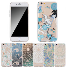 Beautiful Fashion Flower Cute TPU Case Cover For iPhone 6 6S  For Phone Cheap price case