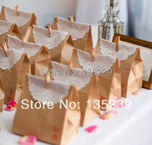 30pcs bags with clips, white lace paper, Wedding,Party favor bags,cake favors bag,so cut for baby shower