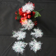 60pcs/lot Christmas Festival Xmas Tree Ornament Snowflakes Christmas Decorations 6cm Diameter Celebrations Occasion(China)