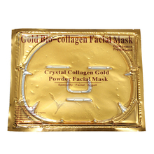 20PCS/lot Gold Bio-Collagen Facial Mask Face Masks Crystal Gold Powder Collagen Facial Mask Moisturizing Anti-Aging Oil-control(China)