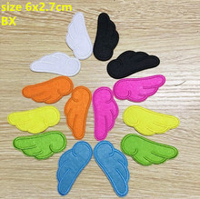 Free Shipping mixed 14 pcs 7 colors Angel Wings Embroidered patches iron on Motif sew on Applique DIY accessory BX