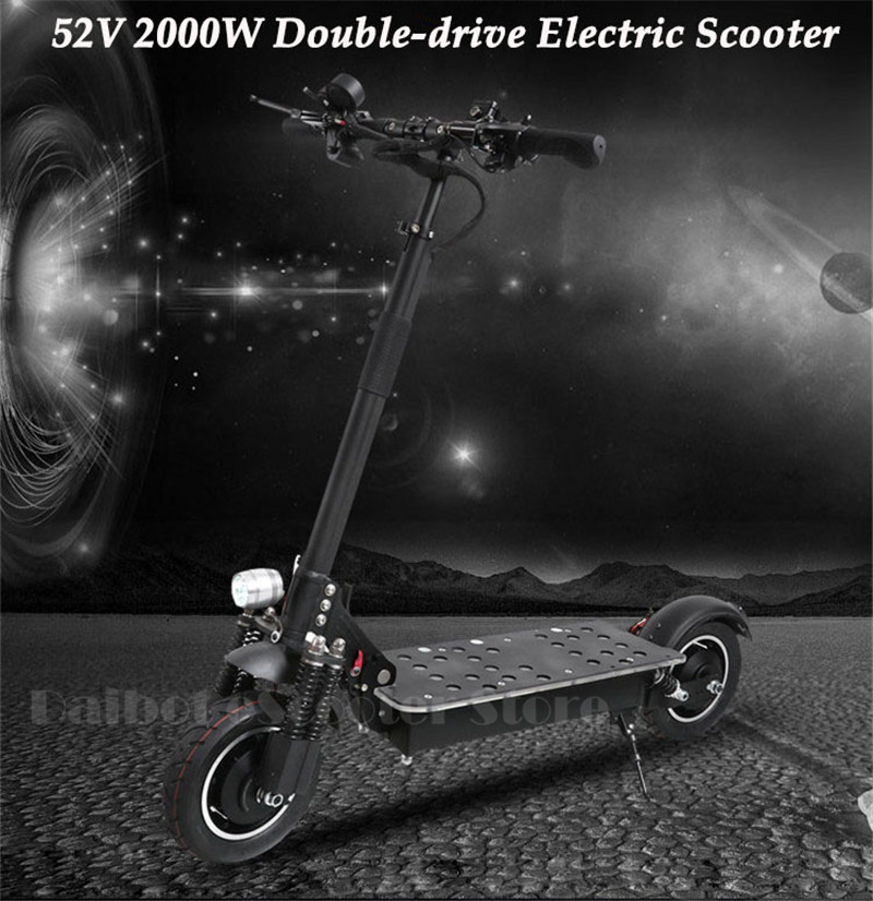 UBGO Powerful Electric Scooter 10 Inch 52V60V Two Wheel Electric Scooters Double Drive Electric Scooter 2000W Motor for Adults (17)