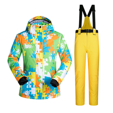 Outdoor Sports Ski Suit Women Windproof Waterproof Thermal Snowboard Snow Skiing Jacket And Pants Skiwear Ice Skating Clothes(China)
