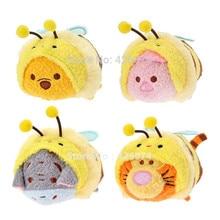 Новый Мини-Цум Цум Honey Bee Медведь Тигра Пятачок Иа Плюшевые Детские Мягкие Игрушки Смартфон Cleaner Детям Подарки(China)