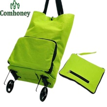 Foldable Shopping Bag for Women Polka Dot Handbag Trolley Shopping Bag Supermarket Trolley Bags Women's Handbags Grocery Bag