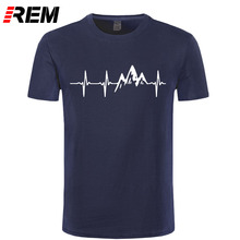 REM Mountain Heartbeat T-Shirt Fashion Funny Birthday 100% Cotton Short Sleeves T Shirts Causal O-neck Tops Tees Hip Hop(China)