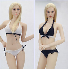 1/6 Scale Female White/Black Underwear Sexy Bikini Swimsuit for Large Bust Phicen Doll Jiaoudol Action Figure Accessories