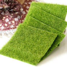 15x15cm Grass Mat Green Artificial Lawns 15x15cm Small Turf Carpets Fake Sod Home Garden Moss For home Floor wedding Decoration