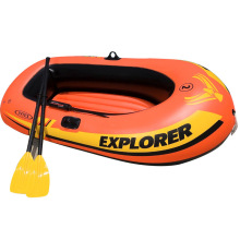 free shipping by DHL Brand INTEX 2 Person Inflatable Fishing Boat Kayak Canoe For Drifting Surfing Sandbeach With Oars Hand Pump