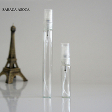 Transparent Glass Refillable Bottles 100pcs/lot 10ml Spray Clear Perfume Bottles Wholesale