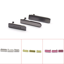 4 colors USB Port Dust Plug Cover + Micro SD Port + SIM Card Port Cover For Sony Xperia Z1 Mini Compact D5503