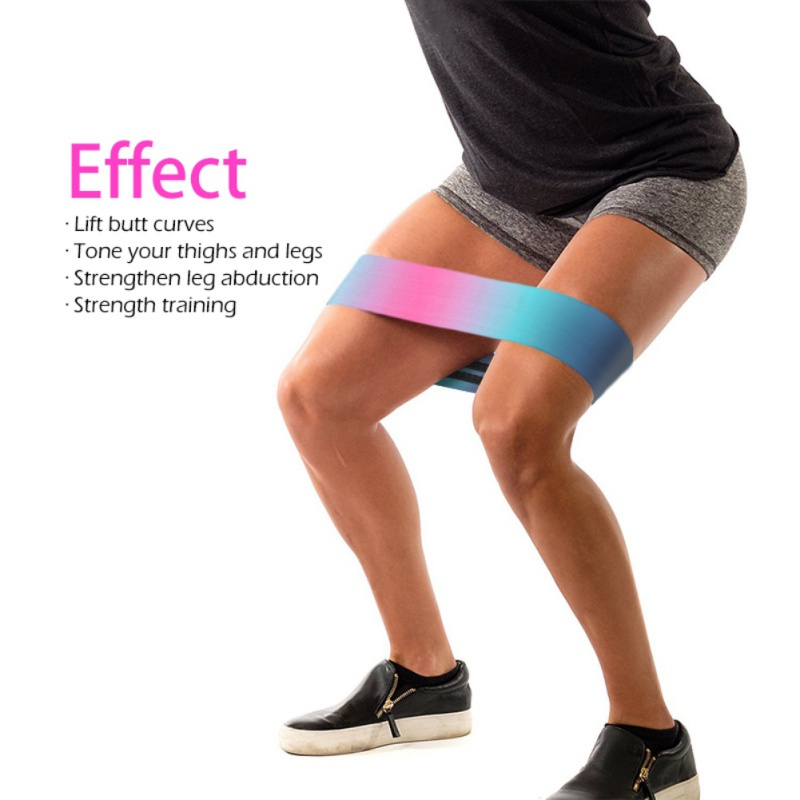 Wide Hip Resistance Bands Loop Circle Exercise Workout Fitness Yoga Booty Leg