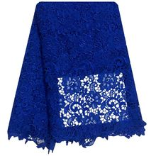 Buy Embroidery Design African Cord Lace Fabrics High Nigeria Wedding Dress Lace Water Soluble Guipure Lace Fabric Royal Blue for $50.35 in AliExpress store
