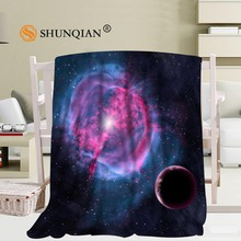 Custom Solar System Clouds Blanket Soft Fleece DIY Your Picture Decoration Bedroom Size 58x80Inch,50X60Inch,40X50Inch A7.10