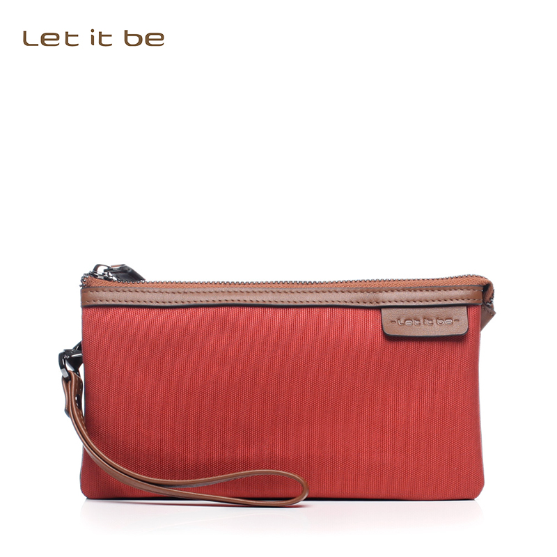 Let it be waterproof oxford nylon women wallet and purse= multi colors leather trim clutch<br>