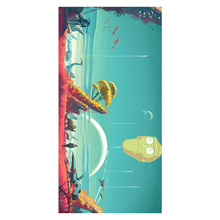 rick and morty Pattern Multifunctional Use Baby Bath Towels Women Hand Face Hair Drying Soft Bamboo Fiber Towel 35*70cm