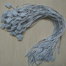 1000 pcs/color Grey paper tags seal cords Hang tag strings for dress