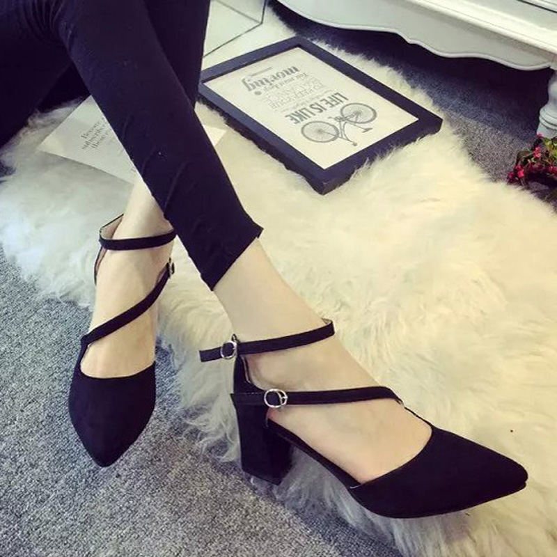 2017 summer new fashion sexy high-heeled pointed shoes Baotou sandals, Free Shipping<br><br>Aliexpress