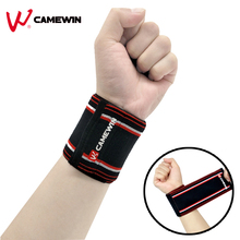 1 Piece Bandage Wrist Support Protect High Elasticity Wristband CAMEWIN Brand Sports Bracers Basketball Sports Wrist Protection(China)