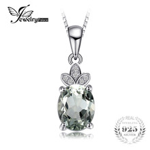 JewelryPalace Classic 1.8ct Natural Green Amethyst White Rock Quartz Pendant Necklace 925 Sterling Silver Without a Chain(China)