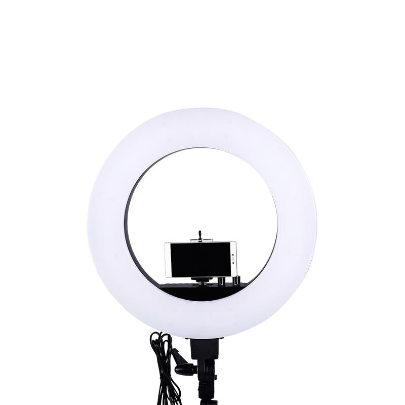 18 дюймов LED фото кольцо света 5500 К видео свет лампы цифровой фотографическое освещение(China)