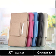 Hot Selling Super Deal 1PC Universal High quality PU Leather Stand Cover Case For 8 Inch Tablet PC general cover 5 Color