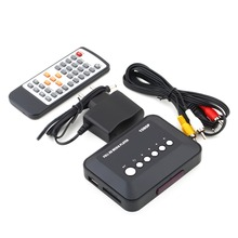 New DC5.6V 1080P HD USB VGA Multi TV Media Videos Player Box TV videos Box MMC RMVB MP3 (EU Plug) USB 2.0 support SATA Disk