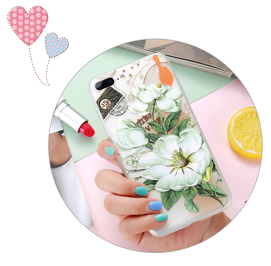 flower patterned case for iPhone 6 6s 7 Plus (3)