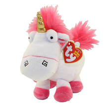 "Pyoopeo Ty Beanie Babies 6"" 15cm Fluffy Unicorn Plush Stuffed Animal Collectible Doll Toy with Tags(China)"