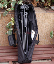65cm Padded Camera Monopod Tripod Carrying Bag Case with Shoulder strap For Manfrotto GITZO SLIK Free shipping(China)