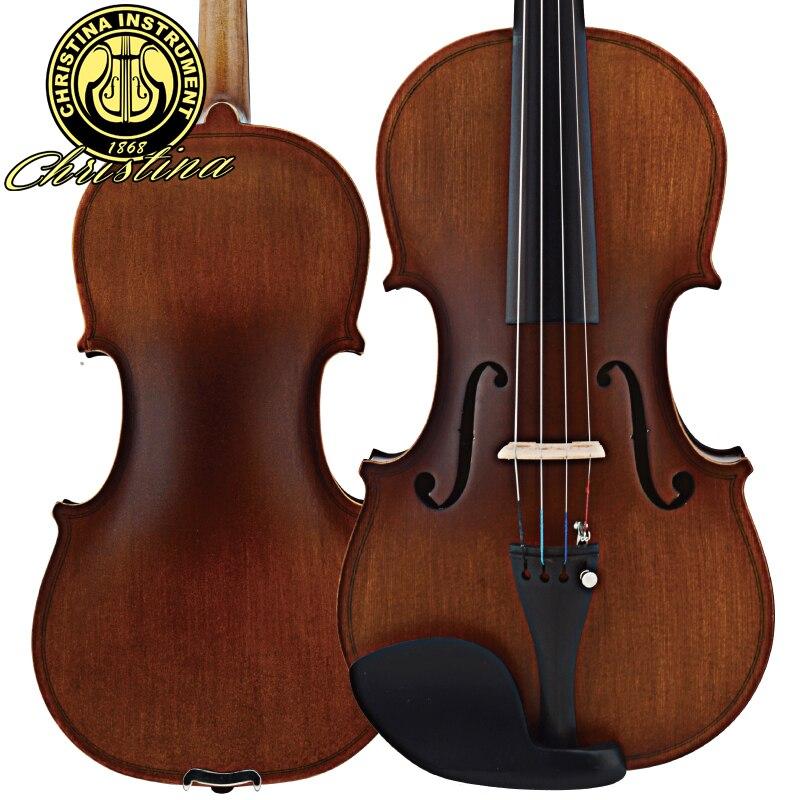 Professional Italy Christina V01 Stradivari violin Antique Maple violin 4/4 Violino 3/4 Handmade musical instrument &amp; case,bow<br><br>Aliexpress