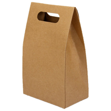 UESH-5pcs Kraft Paper Brown Lucky Party Gift Regal Goody Bags Cupcake Muffins Cake Boxes(China)
