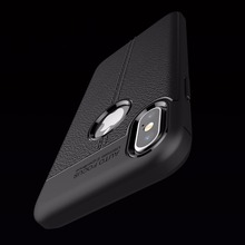Luxury Brand Full Cover Carbon Fiber Case for iPhone X Cover Soft Silicone Coque for iPhone X Case Cover Luxury Leather Fundas(China)
